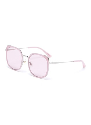 Main View - Click To Enlarge - STEPHANE + CHRISTIAN - Rimmed horn acetate frame sunglasses