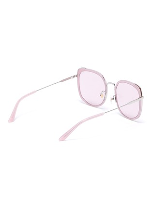 Figure View - Click To Enlarge - STEPHANE + CHRISTIAN - Rimmed horn acetate frame sunglasses