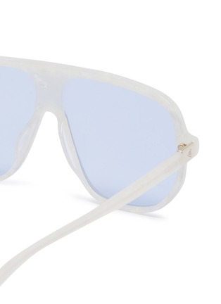 Detail View - Click To Enlarge - STEPHANE + CHRISTIAN - Marble effect acetate Google D frame sunglasses