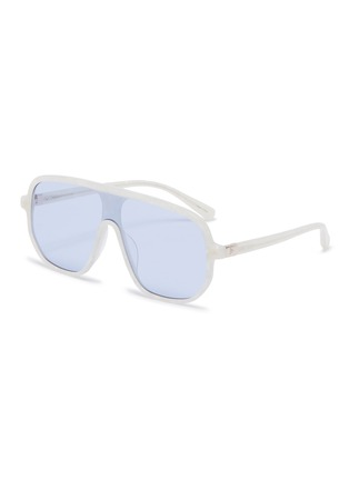 Main View - Click To Enlarge - STEPHANE + CHRISTIAN - Marble effect acetate Google D frame sunglasses