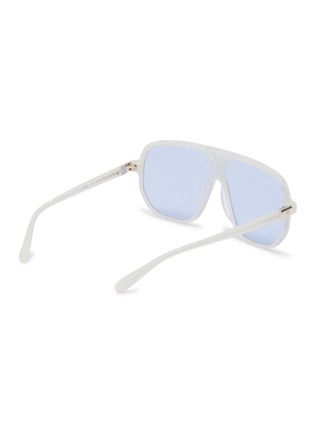 Figure View - Click To Enlarge - STEPHANE + CHRISTIAN - Marble effect acetate Google D frame sunglasses