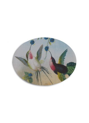 Main View - Click To Enlarge - CHILEWICH - Hummingbirds Oval Placemat