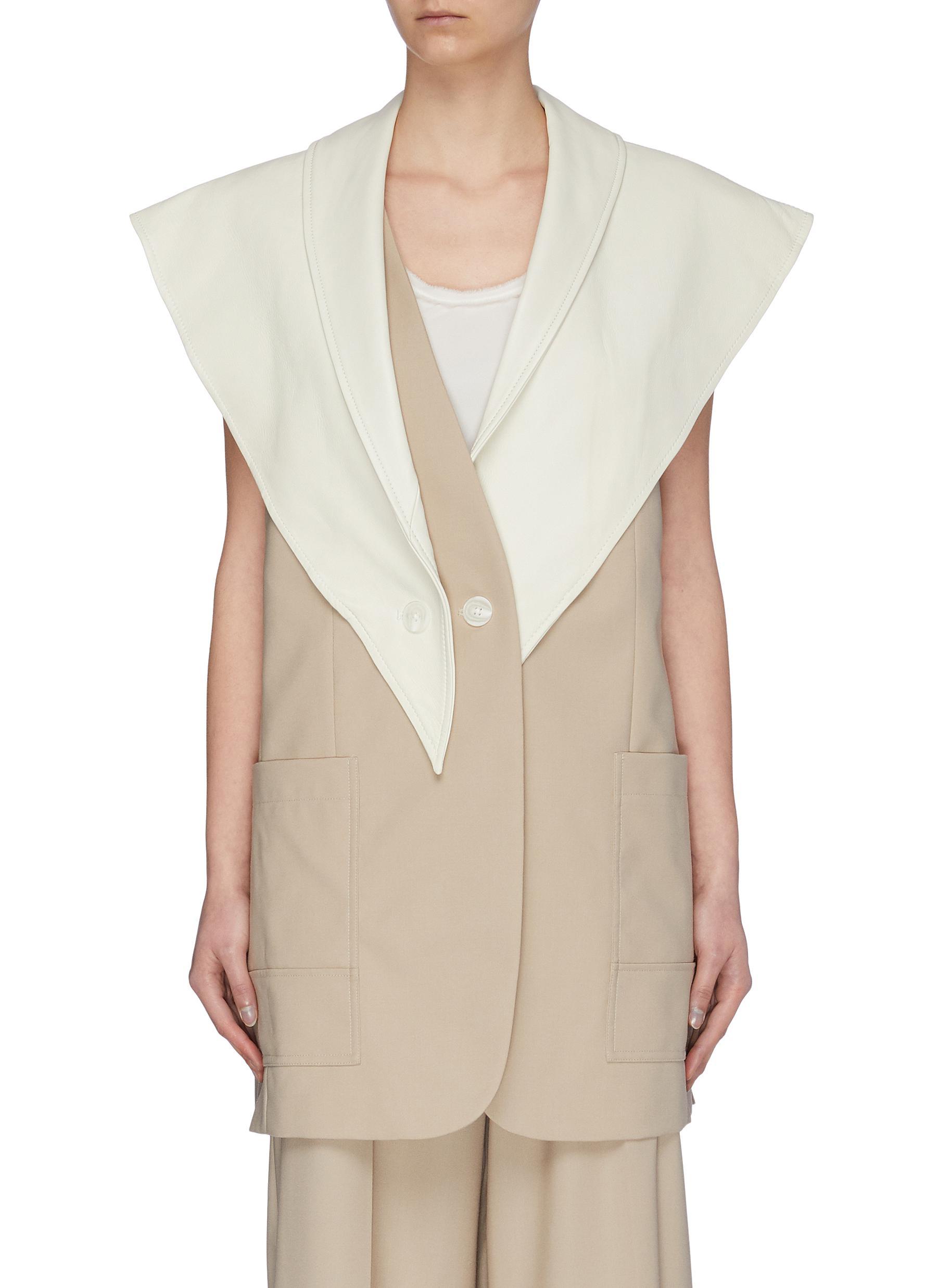 Detachable leather scarf wool vest - 3.1 PHILLIP LIM - Modalova