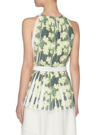 Back View - Click To Enlarge - 3.1 PHILLIP LIM - Floral print knife pleated belted tank top
