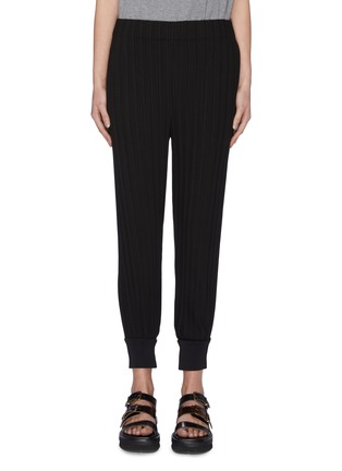 Main View - Click To Enlarge - 3.1 PHILLIP LIM - Plissé pleated ribbed cuff jogging pants
