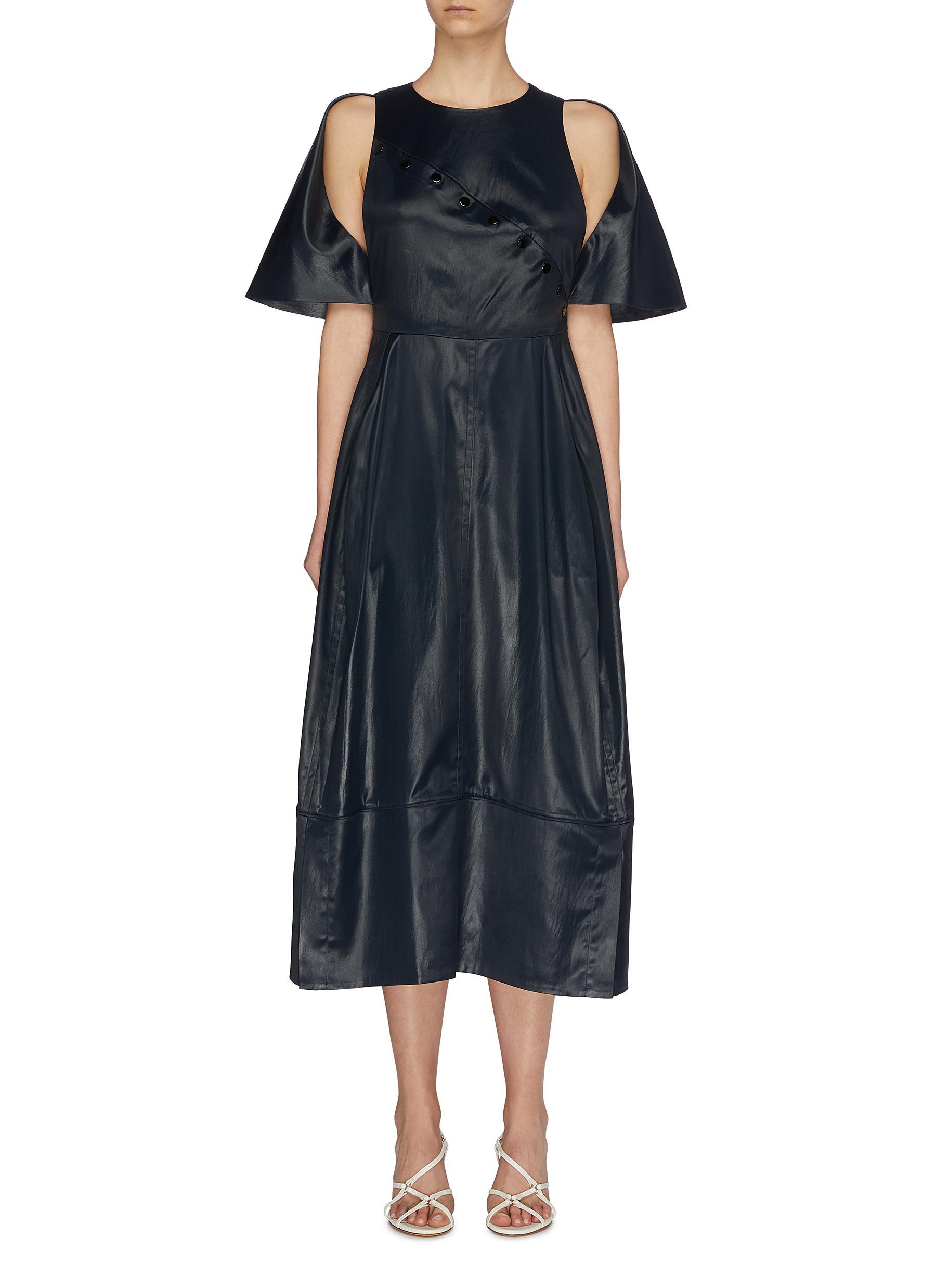 shop 3.1 Phillip Lim Cape sleeve cupro midi dress online