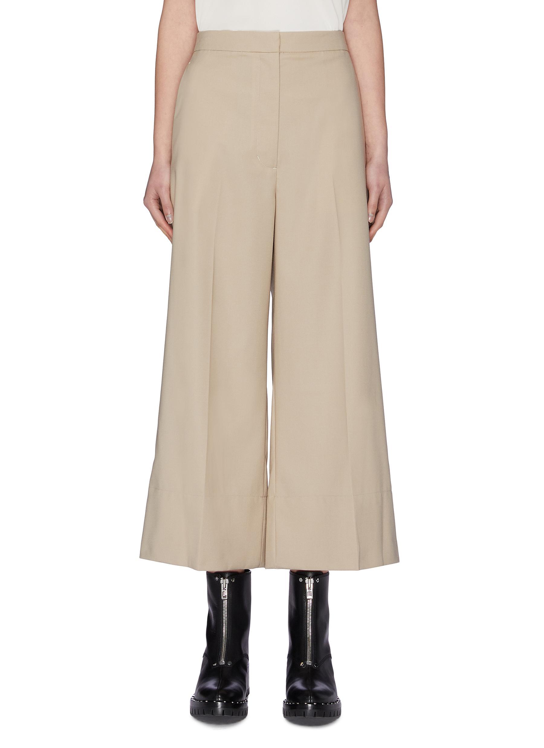 Buy 3.1 Phillip Lim Pants & Shorts A-line back dart crop wool pants