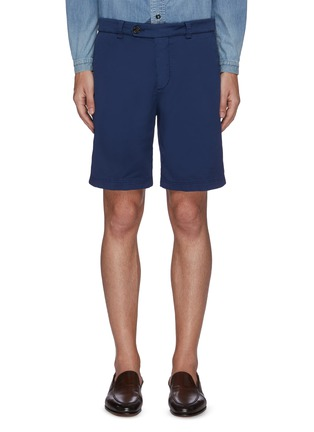 Main View - Click To Enlarge - BRUNELLO CUCINELLI - Stretch cotton blend chino shorts