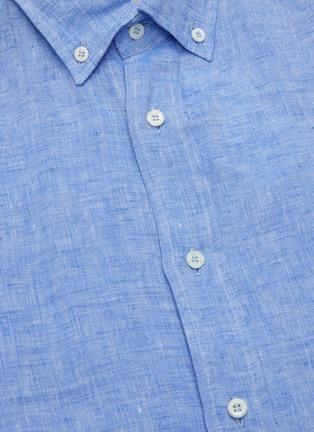 - BRUNELLO CUCINELLI - Button front stand collar cotton shirt