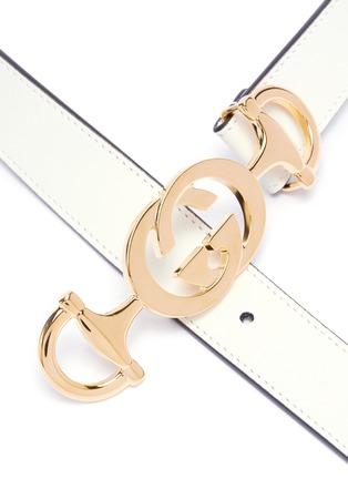 Detail View - Click To Enlarge - GUCCI - Interlocking logo horsebit buckle belt