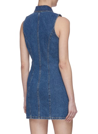 Back View - Click To Enlarge - GRLFRND - 'Colette' Dark Wash Denim Dress