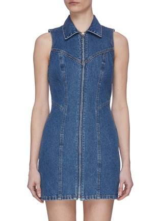 Main View - Click To Enlarge - GRLFRND - 'Colette' Dark Wash Denim Dress