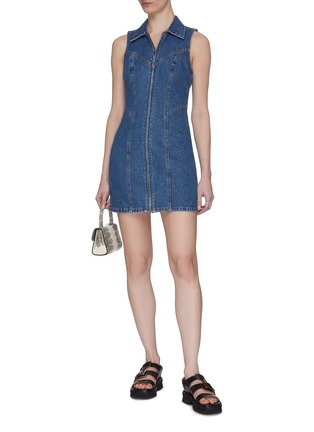 Figure View - Click To Enlarge - GRLFRND - 'Colette' Dark Wash Denim Dress