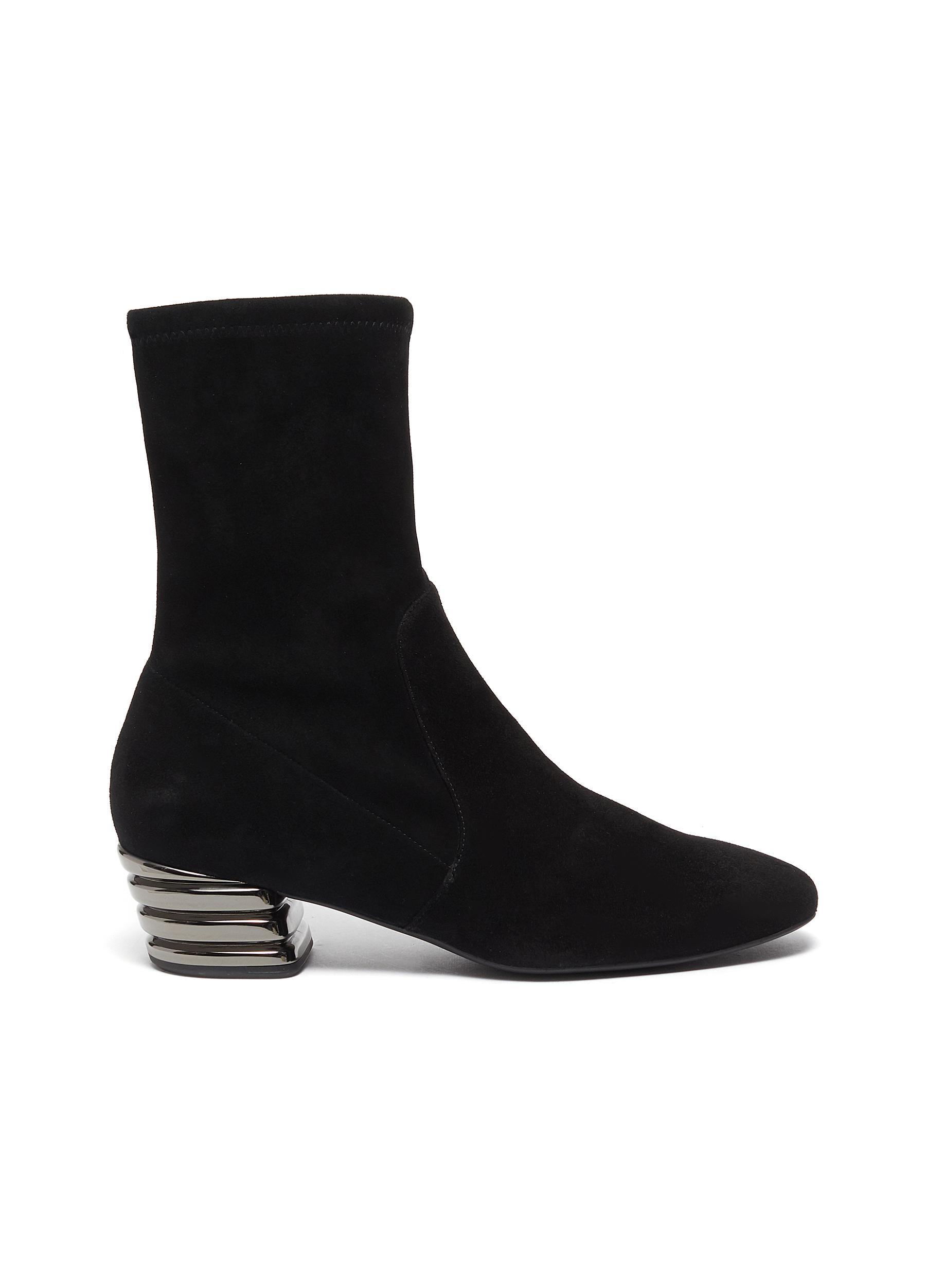 Stuart Weitzman Flats Raina stretch suede ankle boots