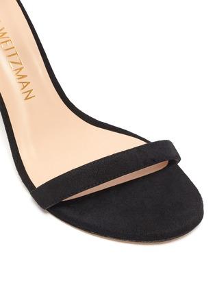 Detail View - Click To Enlarge - STUART WEITZMAN - 'Nunakedstraight' suede heeled sandals