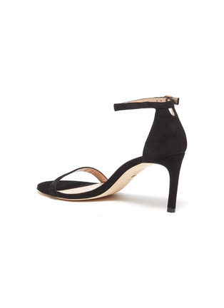 - STUART WEITZMAN - 'Nunakedstraight' suede heeled sandals