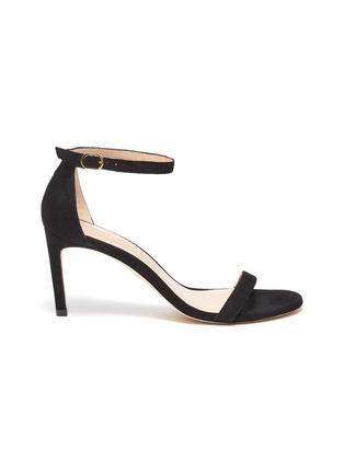 Main View - Click To Enlarge - STUART WEITZMAN - 'Nunakedstraight' suede heeled sandals