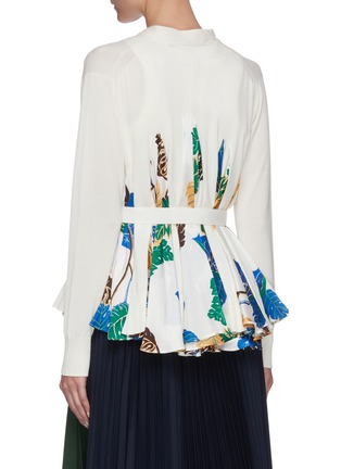 Back View - Click To Enlarge - SACAI - Sun Surf' insert flare belted cardigan