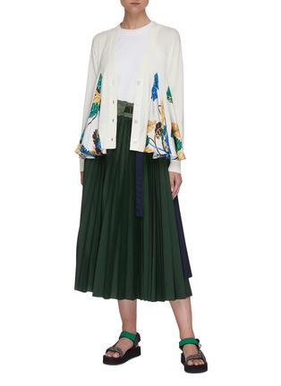 Figure View - Click To Enlarge - SACAI - Sun Surf' insert flare belted cardigan