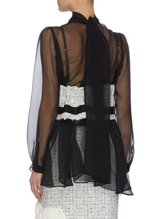 Back View - Click To Enlarge - SACAI - Tweed bra top