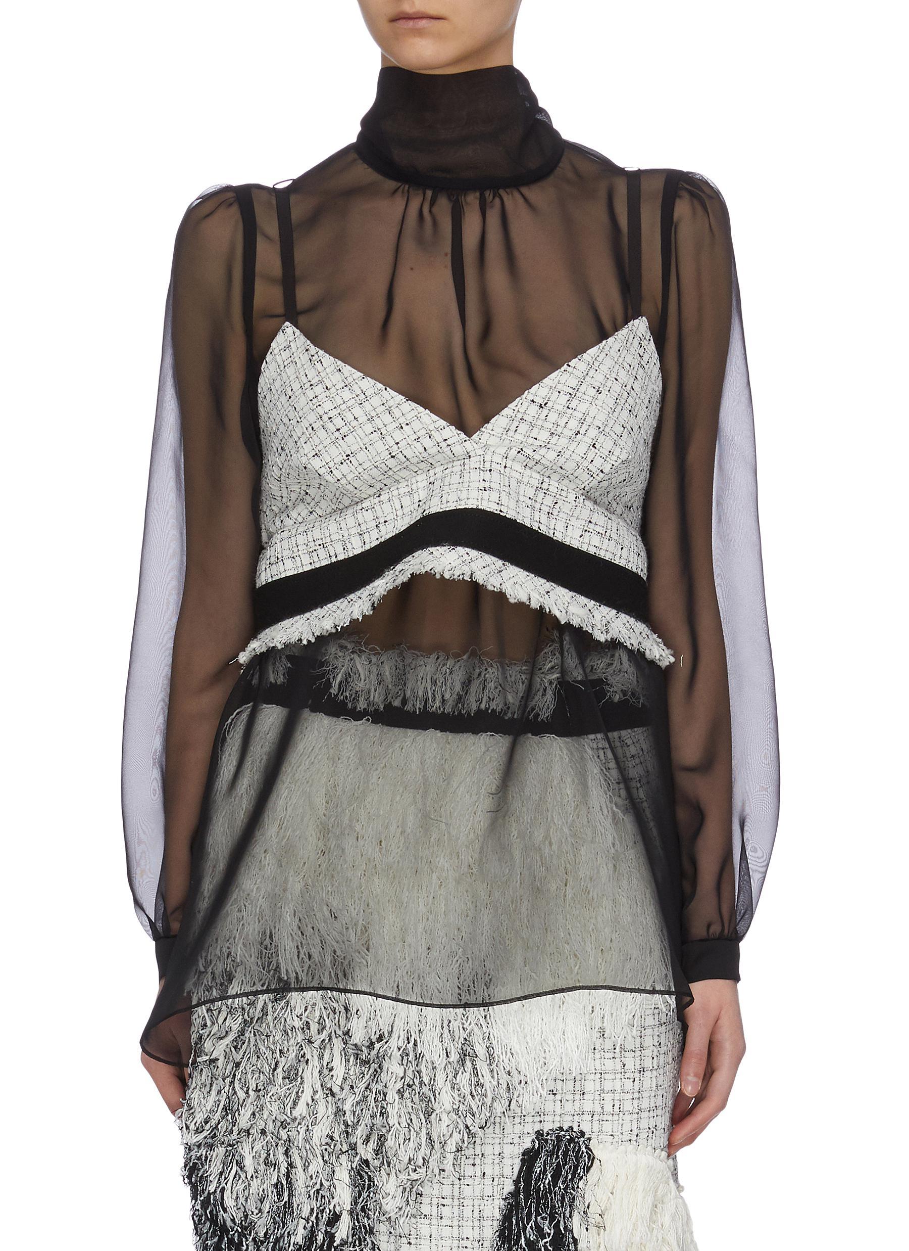 shop Sacai Tweed bra top online