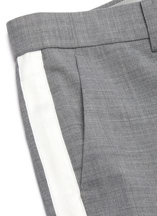 - SACAI - Stripe outseam flare cuff tailored pants
