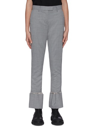 Main View - Click To Enlarge - SACAI - Stripe outseam flare cuff tailored pants