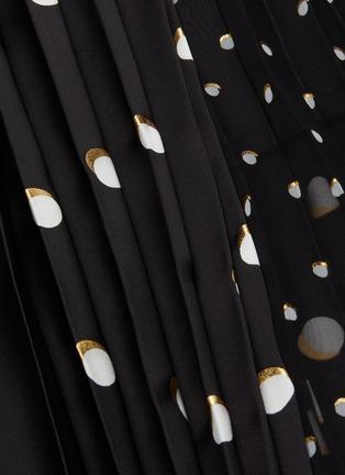 - SACAI - Mix polka dot pleated skirt