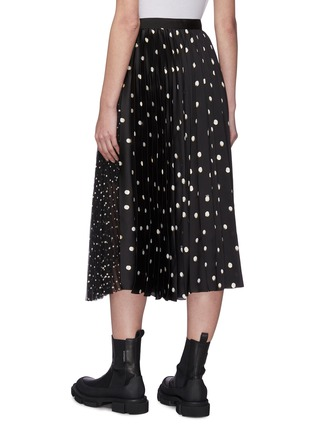 Back View - Click To Enlarge - SACAI - Mix polka dot pleated skirt