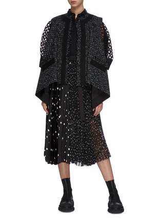 Figure View - Click To Enlarge - SACAI - Open back tweed gilet