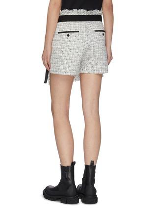 Back View - Click To Enlarge - SACAI - Raw edge tweed wrap shorts