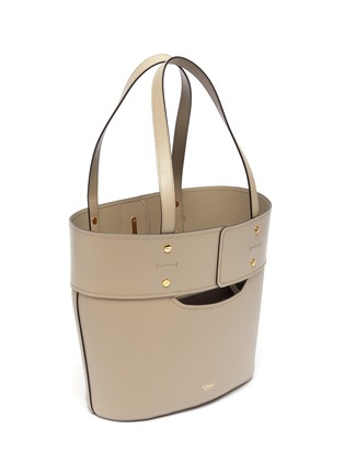 Detail View - Click To Enlarge - CHLOÉ - 'Aby' small lock tote bag