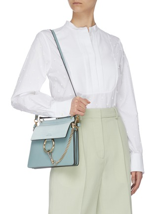 Front View - Click To Enlarge - CHLOÉ - 'Faye' small shoulder bag