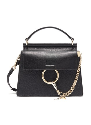 Main View - Click To Enlarge - CHLOÉ - 'Faye' small leather shoulder bag