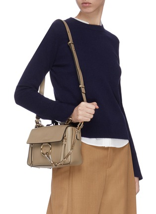 Figure View - Click To Enlarge - CHLOÉ - 'Faye Day' mini leather shoulder bag