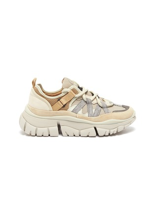 Main View - Click To Enlarge - CHLOÉ - 'Blake' patchwork sneakers