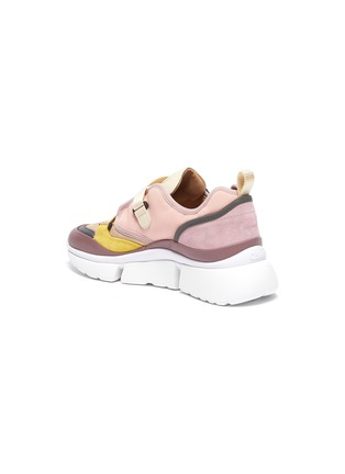 - CHLOÉ - 'Sonnie' chunky outsole low top colourblock sneakers