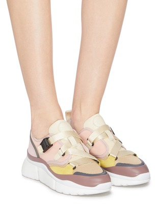 Figure View - Click To Enlarge - CHLOÉ - 'Sonnie' chunky outsole low top colourblock sneakers