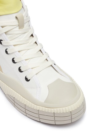 Detail View - Click To Enlarge - CHLOÉ - Clint' contrast tongue high top sneakers