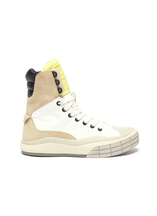 Main View - Click To Enlarge - CHLOÉ - Clint' contrast tongue high top sneakers