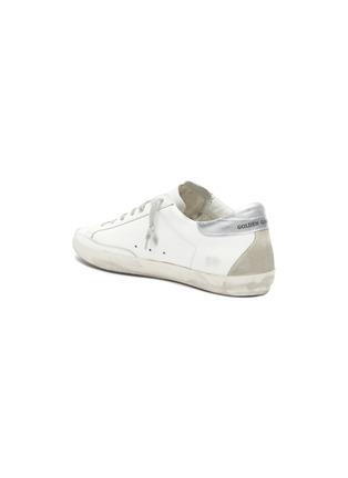 - GOLDEN GOOSE - 'Superstar' metallic tab leather sneakers