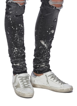 Figure View - Click To Enlarge - GOLDEN GOOSE - 'Superstar' metallic tab leather sneakers