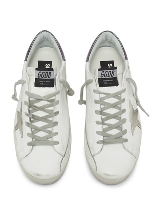 Detail View - Click To Enlarge - GOLDEN GOOSE - 'Superstar' iridescent tab leather sneakers