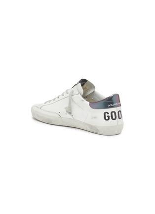 - GOLDEN GOOSE - 'Superstar' iridescent tab leather sneakers