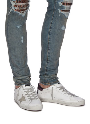 Figure View - Click To Enlarge - GOLDEN GOOSE - 'Superstar' iridescent tab leather sneakers