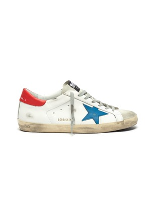Main View - Click To Enlarge - GOLDEN GOOSE - 'Superstar' contrast tab leather sneakers