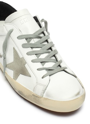 Detail View - Click To Enlarge - GOLDEN GOOSE - 'Superstar' contrast tab leather sneakers