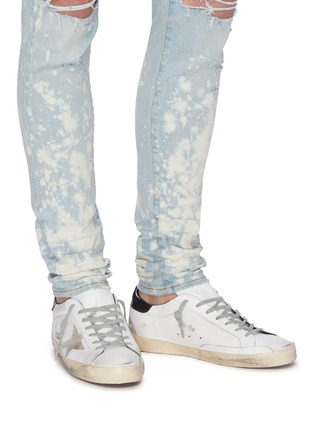 Figure View - Click To Enlarge - GOLDEN GOOSE - 'Superstar' contrast tab leather sneakers