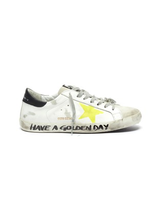 Main View - Click To Enlarge - GOLDEN GOOSE - 'Superstar' leather Sneakers