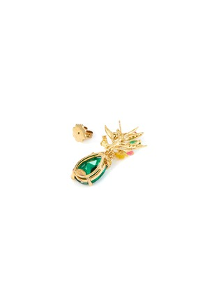 Detail View - Click To Enlarge - ANABELA CHAN - 'Mini posie' emerald earrings